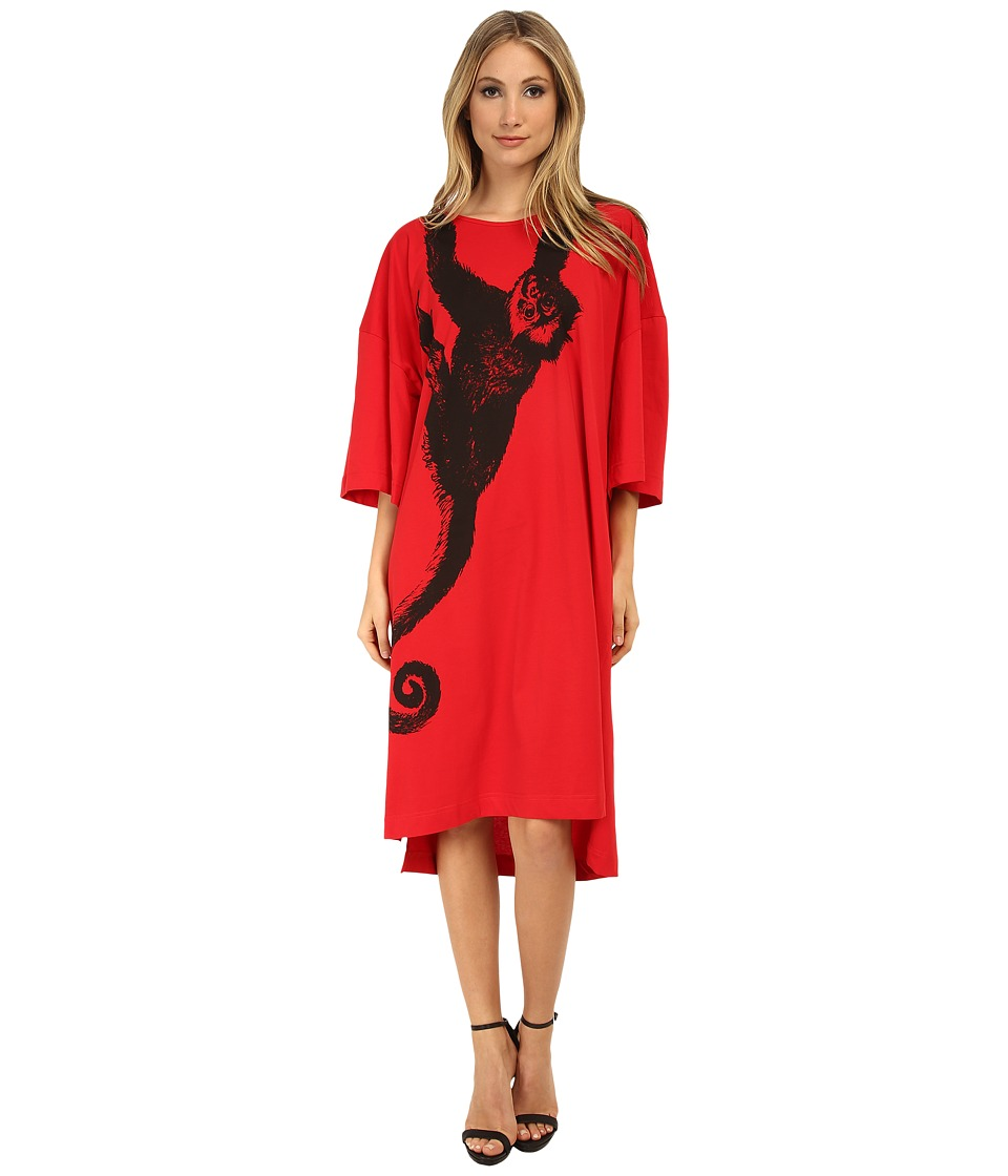 Vivienne Westwood Anglomania - Monkey Tunic Dress (Black/Red) Women's Dress