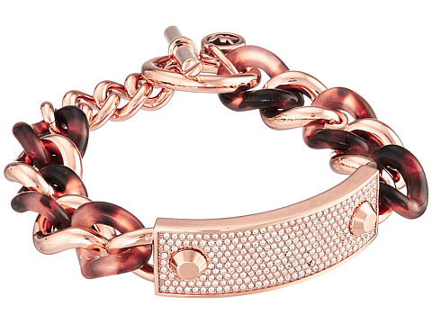 Michael Kors - Plaque Bracelet (Rose Gold/Blush Tort) Bracelet
