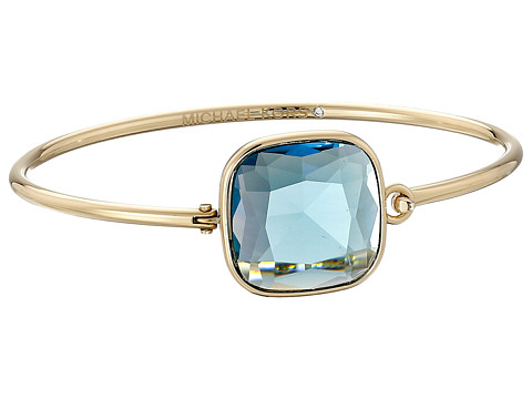 Michael Kors - Botanicals Stone Top Tension Bangle (Gold/Blue) Bracelet
