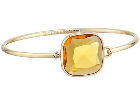 Michael Kors - Botanicals Top Tension Bangle (Gold/Citrine) Bracelet
