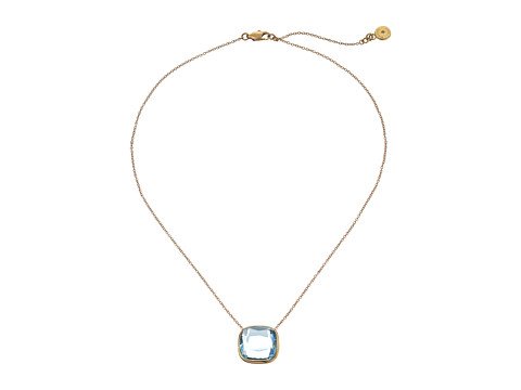 Michael Kors - Botanicals Stone Pendant (Gold/Blue) Necklace