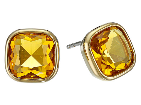 Michael Kors - Botanicals Gold Blue Stone Stud Earring (Gold/Citrine) Earring