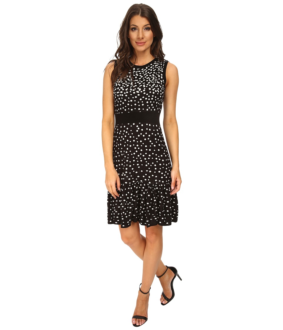 Eliza J - Sleevless Drop Waist (Black/Ivory) Women's Dress