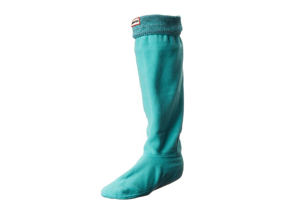 Hunter - Mouline Boot Sock (Black/White/Tourmaline) Women's Knee High Socks Shoes