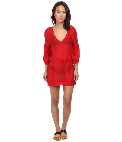 Vix - Solid Red Julie Tunic (Red) Women
