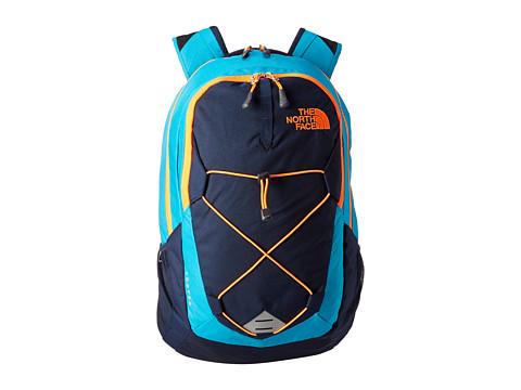 The North Face - Jester (Enamel Blue/Shocking Orange) Backpack Bags