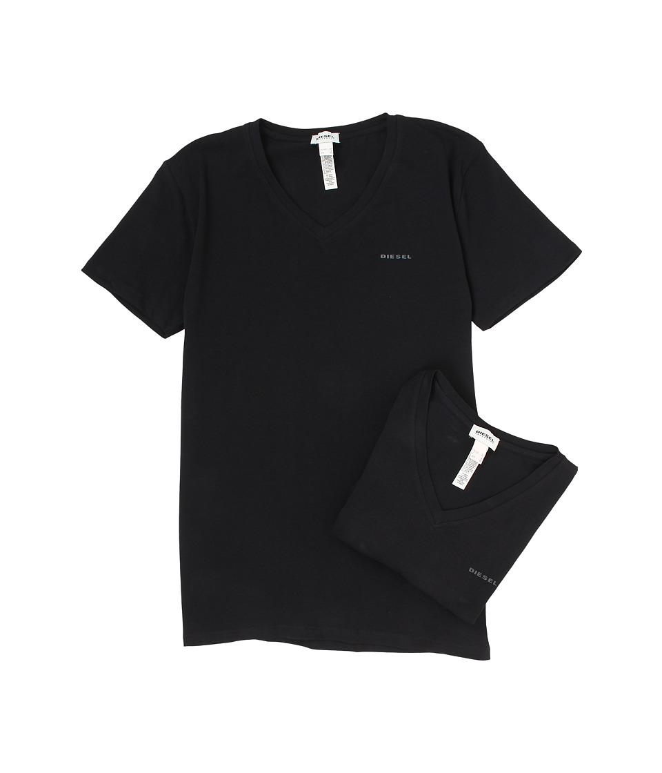 Diesel Michael T-Shirt QAHE 2-Pack (Black) Men