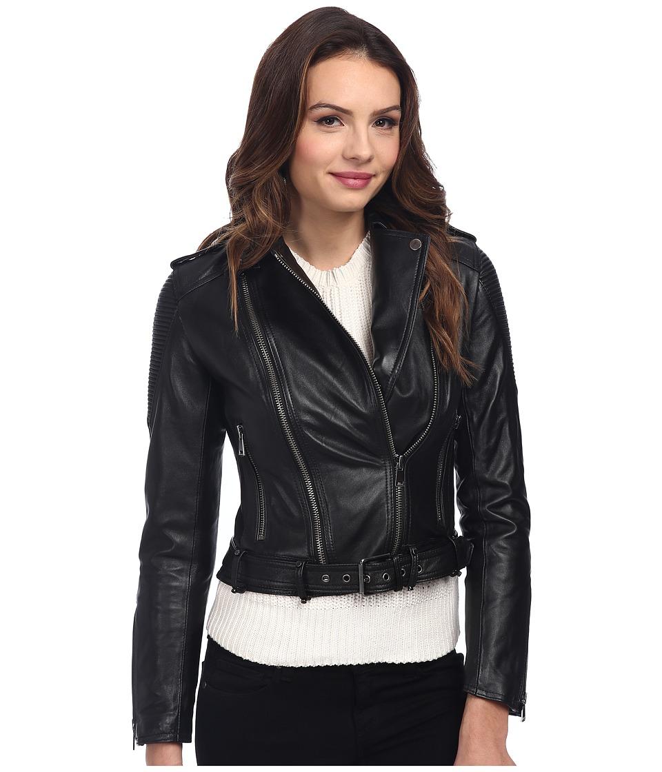 Nicole Miller - Moto Jacket (Black) Women's Coat