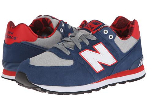 New Balance Kids - KL574 (Big Kid) (Blue/Red) Kids Shoes