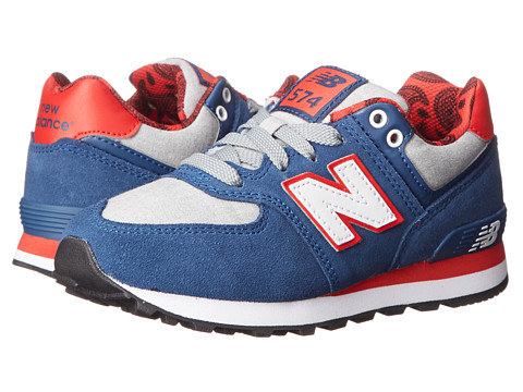 New Balance Kids - KL574 (Little Kid) (Blue/Red) Kids Shoes