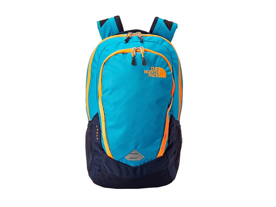 The North Face - Vault (Enamel Blue/Shocking Orange) Backpack Bags