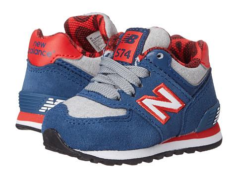 New Balance Kids - KL574 (Infant/Toddler) (Blue/Red) Kids Shoes