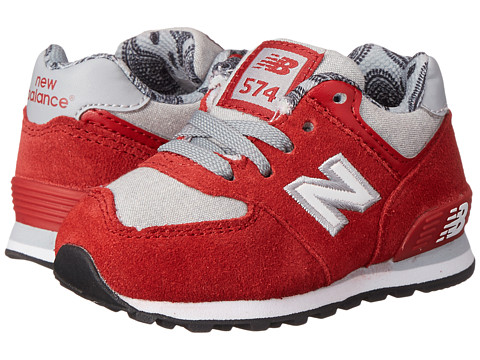 New Balance Kids - KL574 (Infant/Toddler) (Red/Grey) Kids Shoes