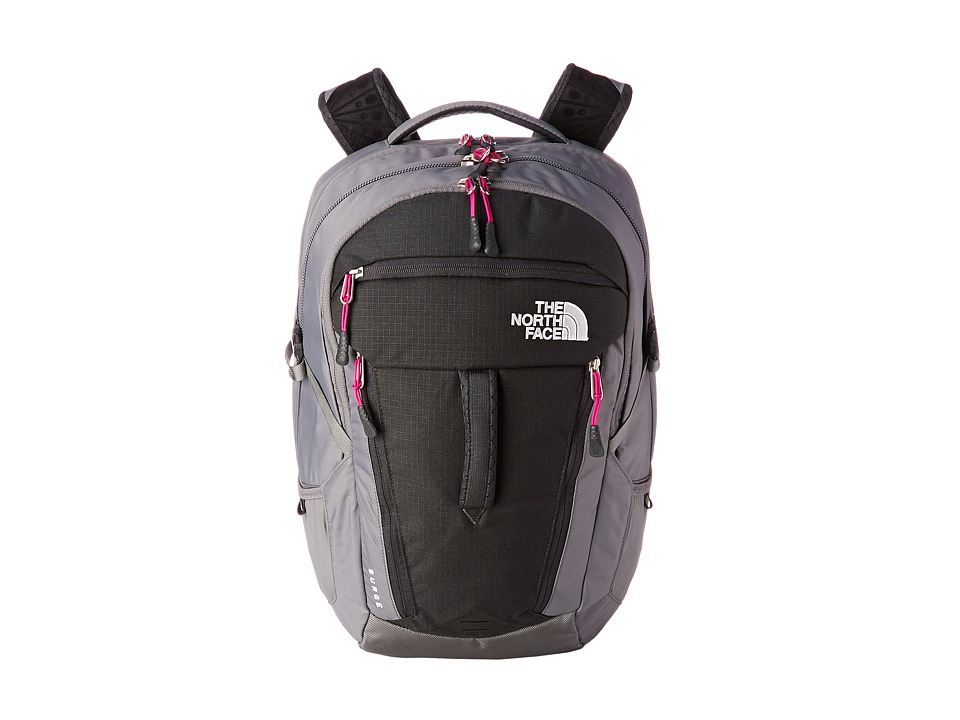 The North Face - Women's Surge (Asphalt Grey/Luminous Pink) Backpack Bags