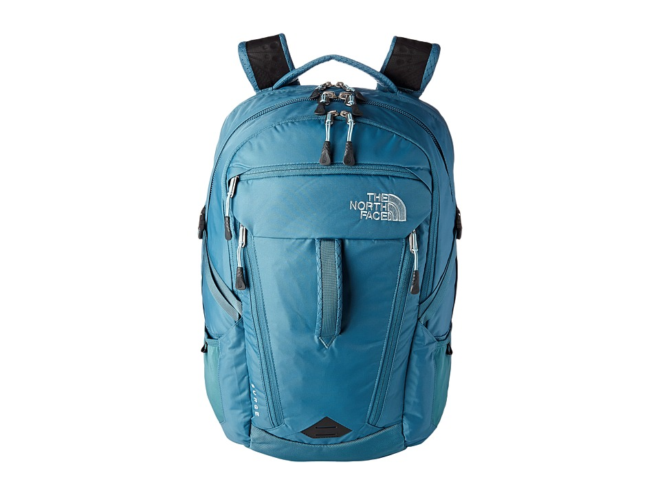 The North Face - Women's Surge (Hydro Green/Tourmaline Blue) Backpack Bags