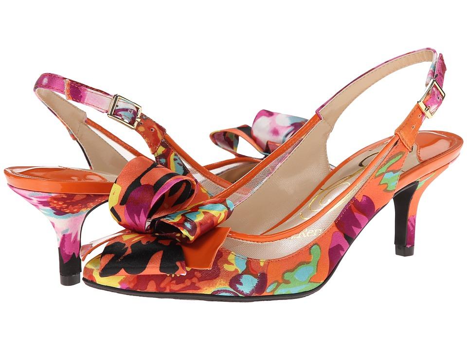 J. Renee - Garbi (Orange/Fuchsia) High Heels