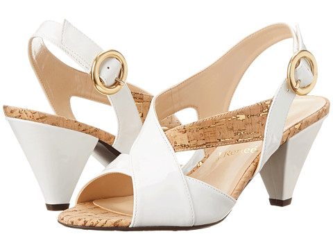 J. Renee - Ditte (White/Cork) High Heels