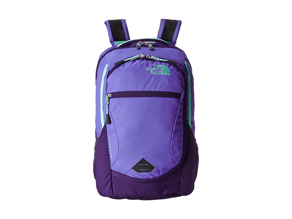 The North Face - Pivoter (Starry Purple/Surf Green) Backpack Bags