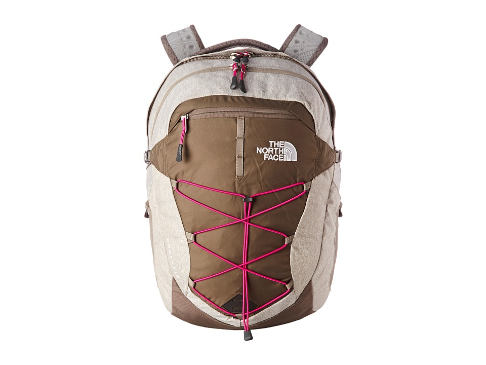 The North Face - Women's Borealis (Brindle Brown/Luminous Pink) Backpack Bags
