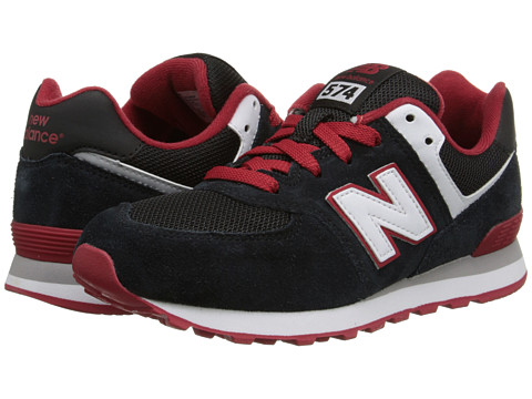 New Balance Kids - KL574 (Little Kid) (Black/Red) Boys Shoes