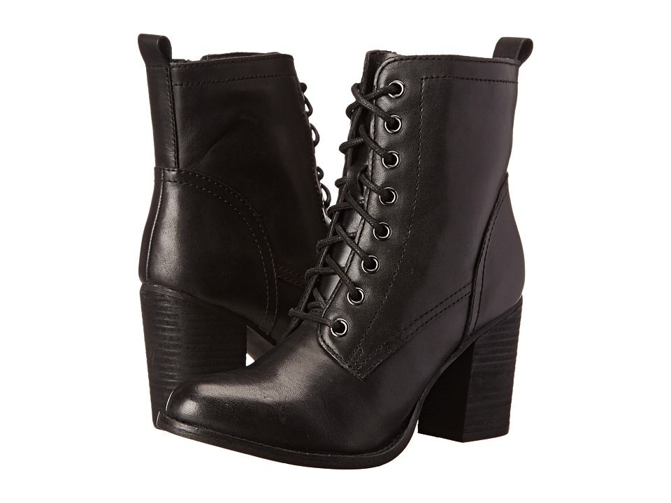 Steve Madden - Lauuren (Black Leather) Women