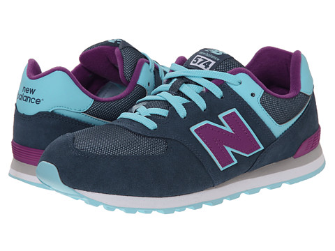 New Balance Kids - KL574 (Big Kid) (Blue/Purple) Girls Shoes