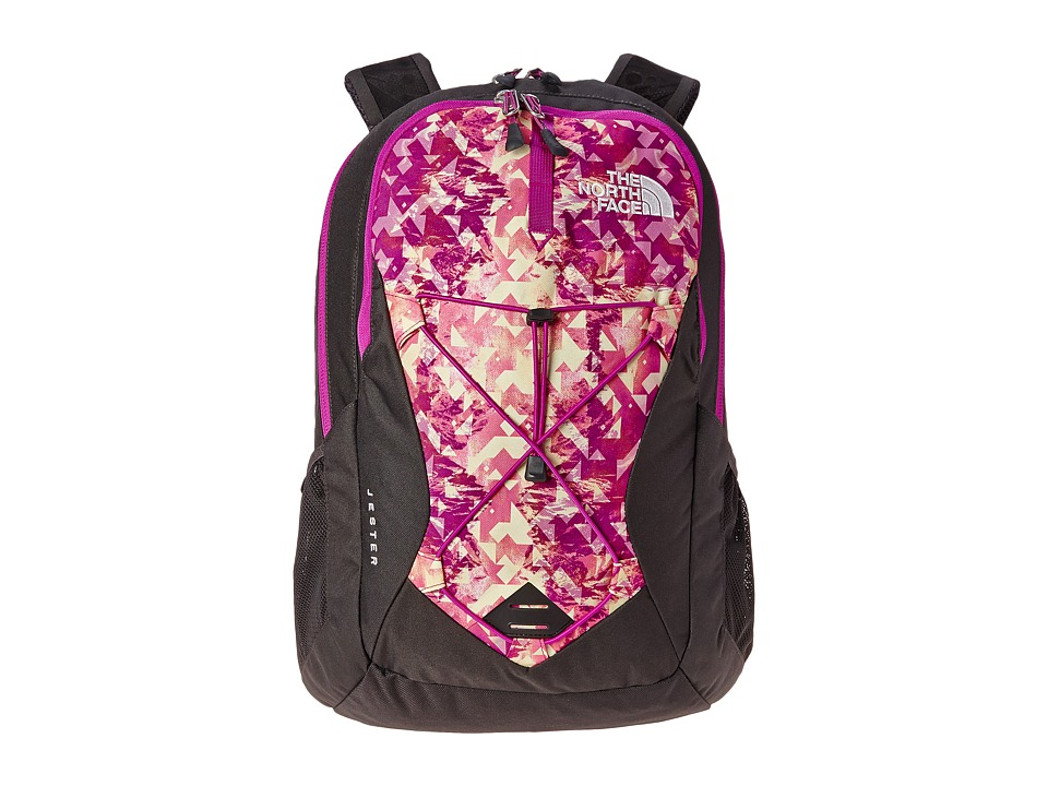 The North Face - Women's Jester (Magic Magenta Mirrored Mountain Print/Magic Magenta) Backpack Bags
