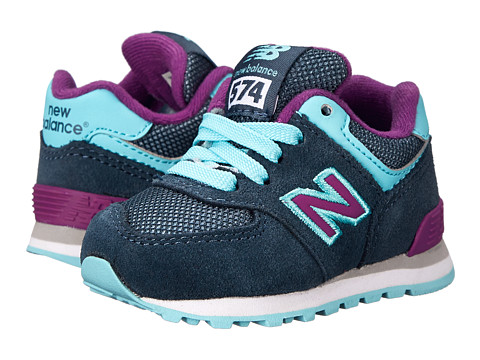 New Balance Kids - KL574 (Infant/Toddler) (Blue/Purple) Girls Shoes