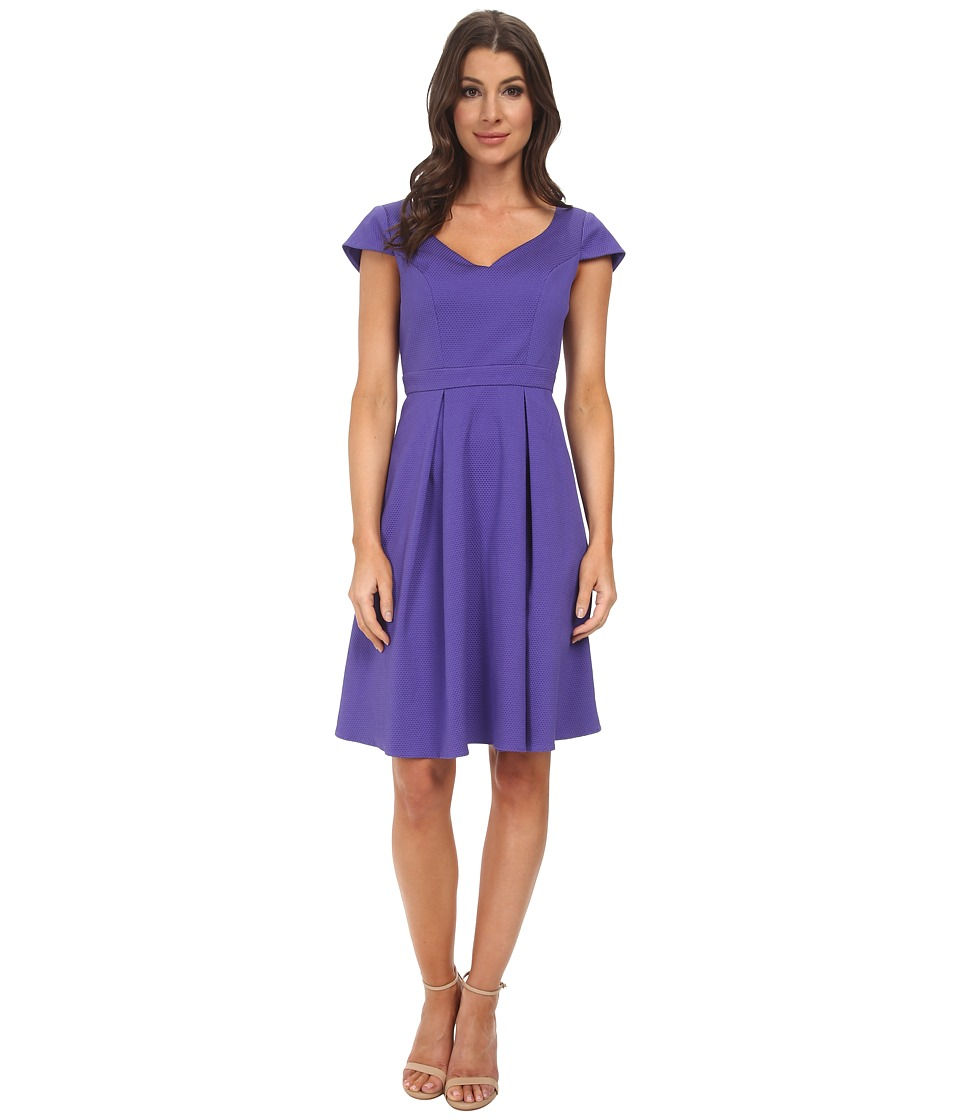Adrianna Papell - Seam Detail Pleat Fold (Freesia) Women's Dress