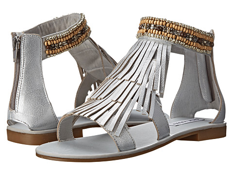 Steve Madden - Giaani (Silver Leather) Women's Sandals