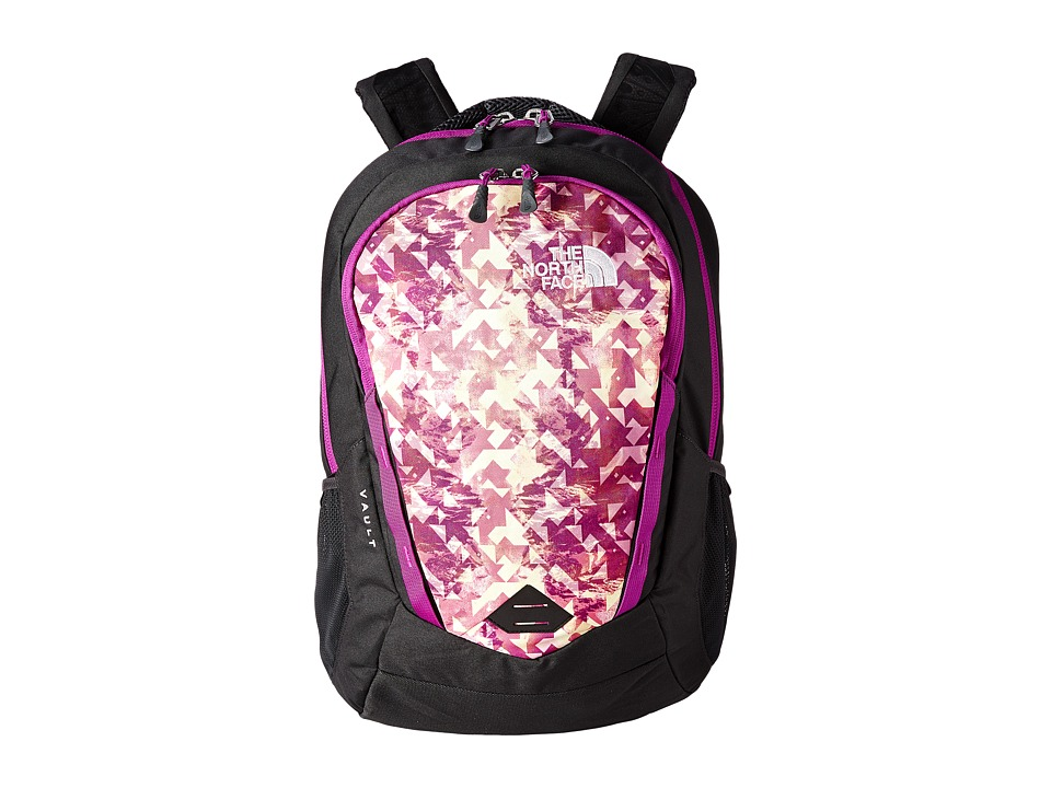 The North Face - Women's Vault (Magic Magenta Mirrored Mountain Print/Magic Magenta) Backpack Bags
