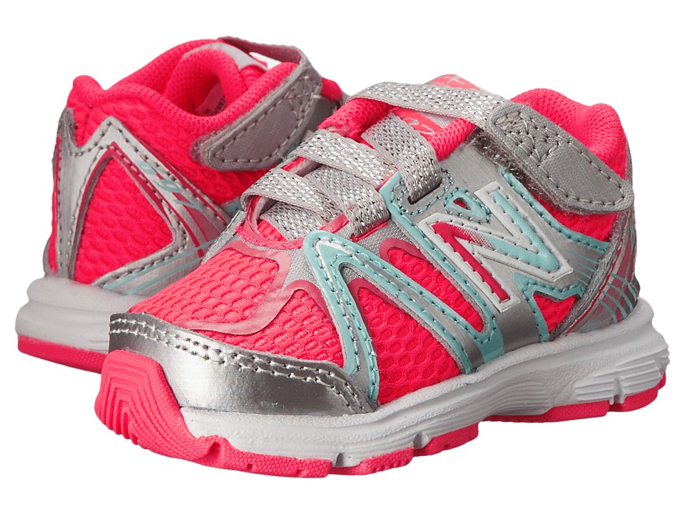 New Balance Kids - 697 (Infant/Toddler) (Silver/Pink) Girls Shoes