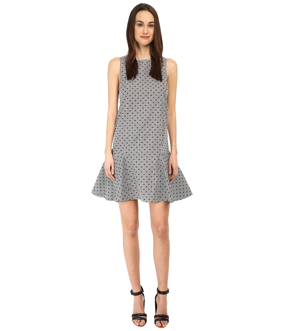 See by Chloe - LVB8600 Dress (Black/White) Women's Dress