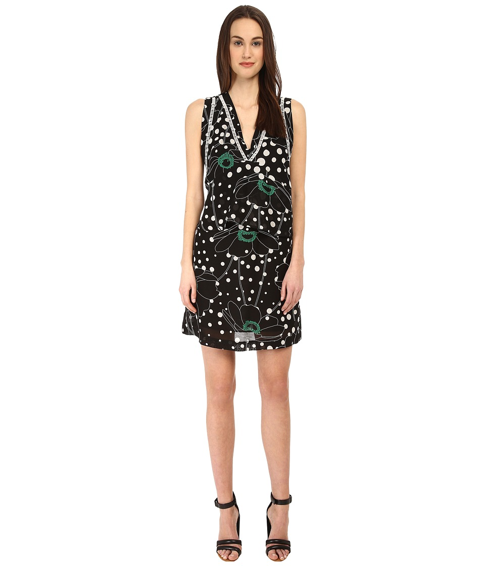 See by Chloe - LVB7200 Dress (Black/Flower) Women's Dress