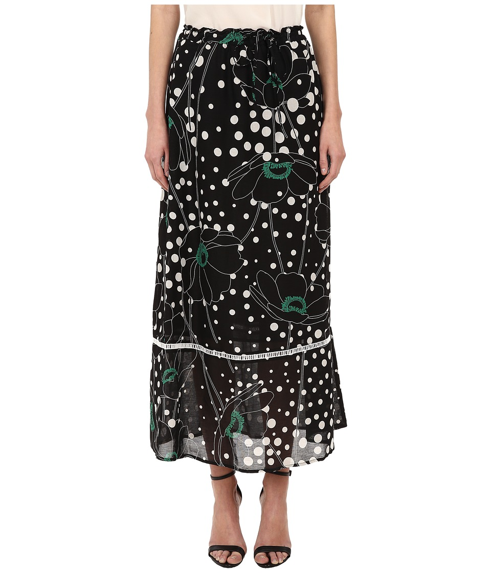See by Chloe - LG73701 Skirt (Black/Flower) Women's Skirt