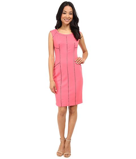 Adrianna Papell - Splice Trim Sheath Dress (French Coral) Women's Dress