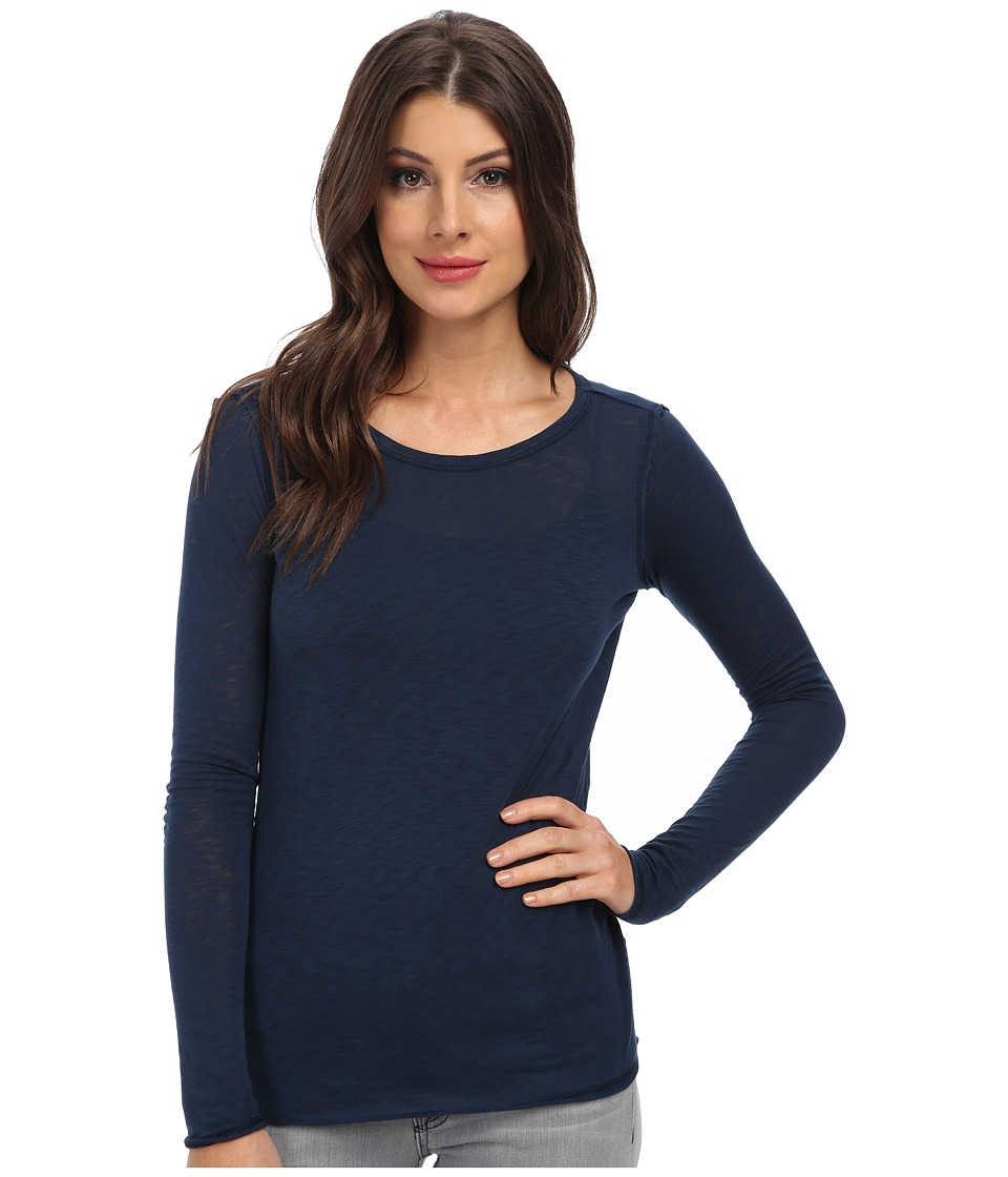 C&C California - L/S Layering Tee (Navy) Women's Long Sleeve Pullover