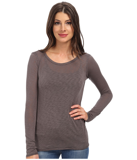 C&C California - L/S Layering Tee (Faded Black) Women's Long Sleeve Pullover