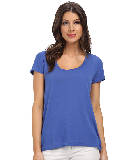 C&C California - S/S Scoop Tee (Dazzling Blue) Women's T Shirt
