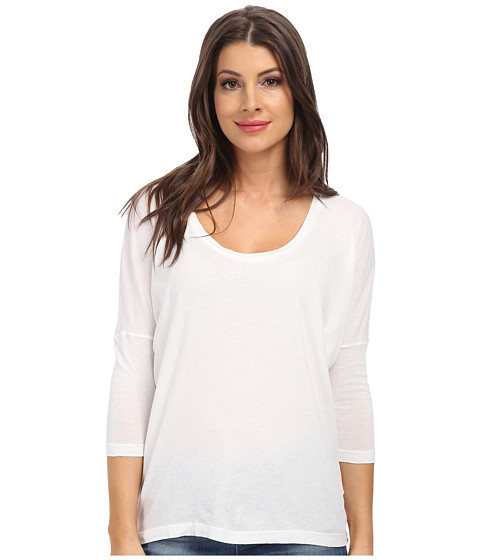 C&C California - 3/4 Sleeve Dolman (White) Women's Clothing