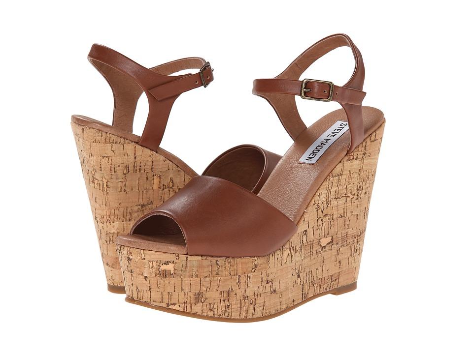 Steve Madden - Korkey (Cognac) Women's Wedge Shoes