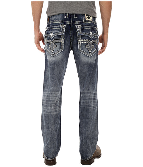 Rock Revival - Soho J Straight in Light Indigo (Light Indigo) Men's Clothing