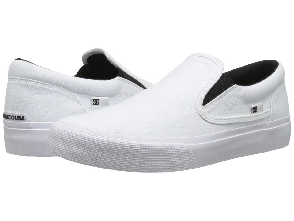DC - Trase Slip-On TX (White) Skate Shoes