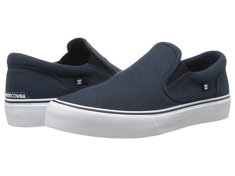 DC - Trase Slip-On TX (Navy) Skate Shoes