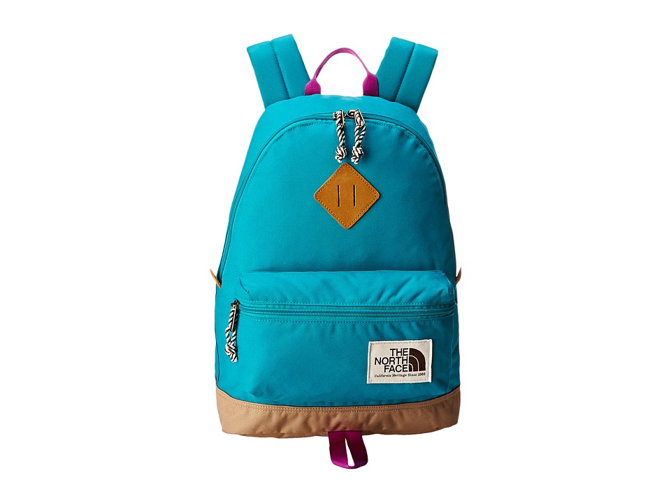 The North Face - Mini Berkeley (Big Kid) (Kokomo Green/Magic Magenta) Backpack Bags