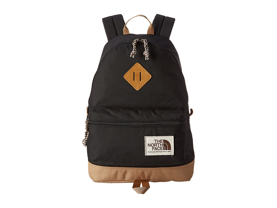 The North Face - Mini Berkeley (Little Kid/Big Kid) (TNF Black/Moab Khaki) Backpack Bags