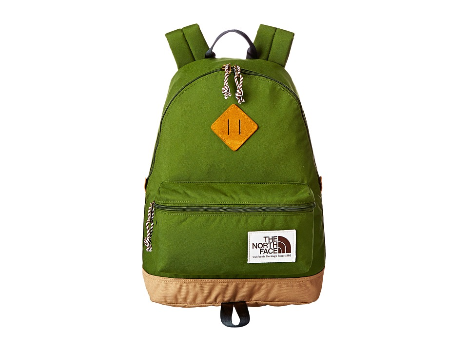 The North Face - Mini Berkeley (Big Kid) (Scallion Green/Asphalt Grey) Backpack Bags
