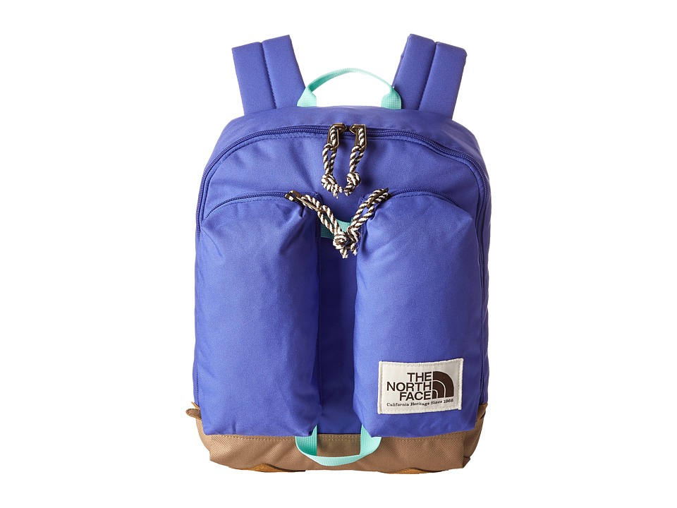 The North Face - Mini Crevasse (Big Kid) (Starry Purple/Surf Green) Backpack Bags