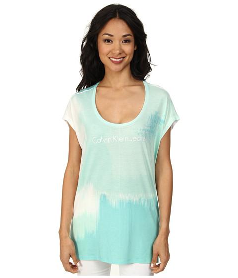Calvin Klein Jeans - Textile Glacier Tee (White) Women
