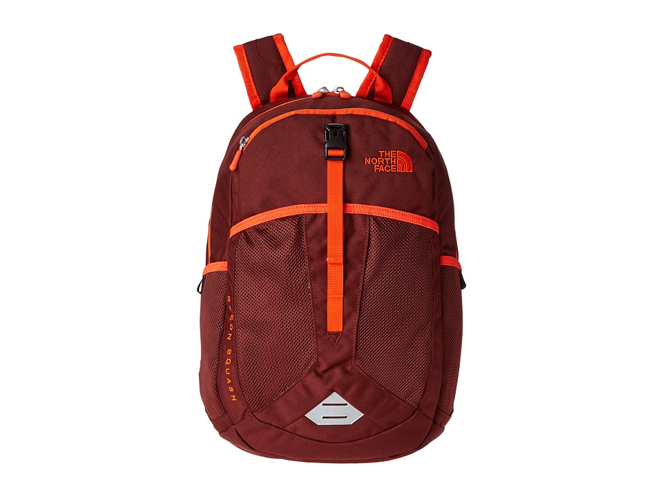 The North Face - Recon Squash (Big Kid) (Sequoia Red/Acrylic Orange) Backpack Bags